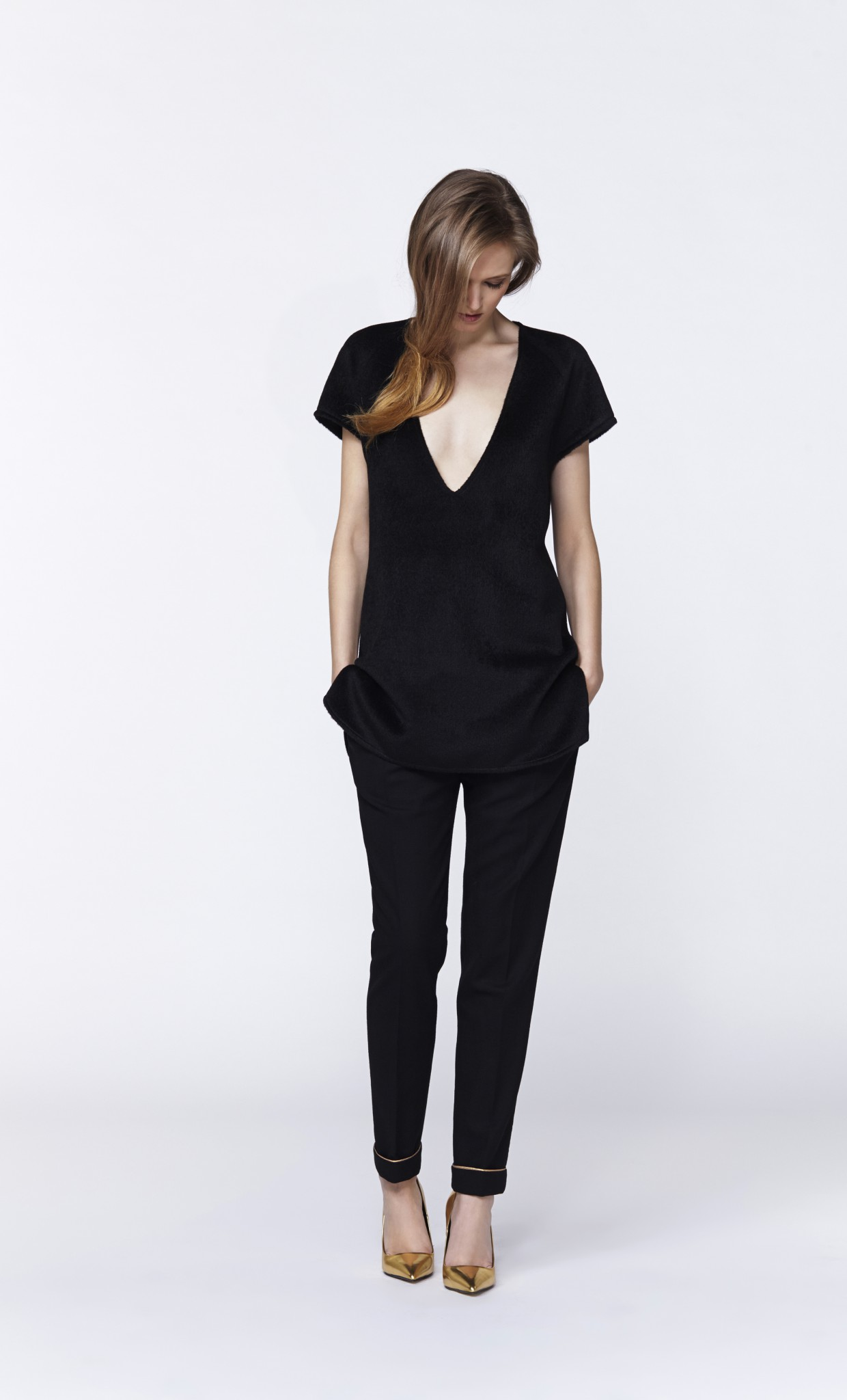 Plakinger: BLACK LAMBSWOOL TUNIC - Hiphunters Shop