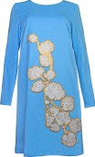 Plakinger: FLOWER APPLIQUÈD WOOL DRESS | Clothing,Clothing > Shorts -  Hiphunters Shop