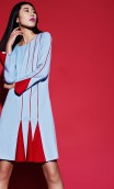 Plakinger: RED PIPING AND GODET WOOL DRESS | Clothing,Clothing > Dresses -  Hiphunters Shop