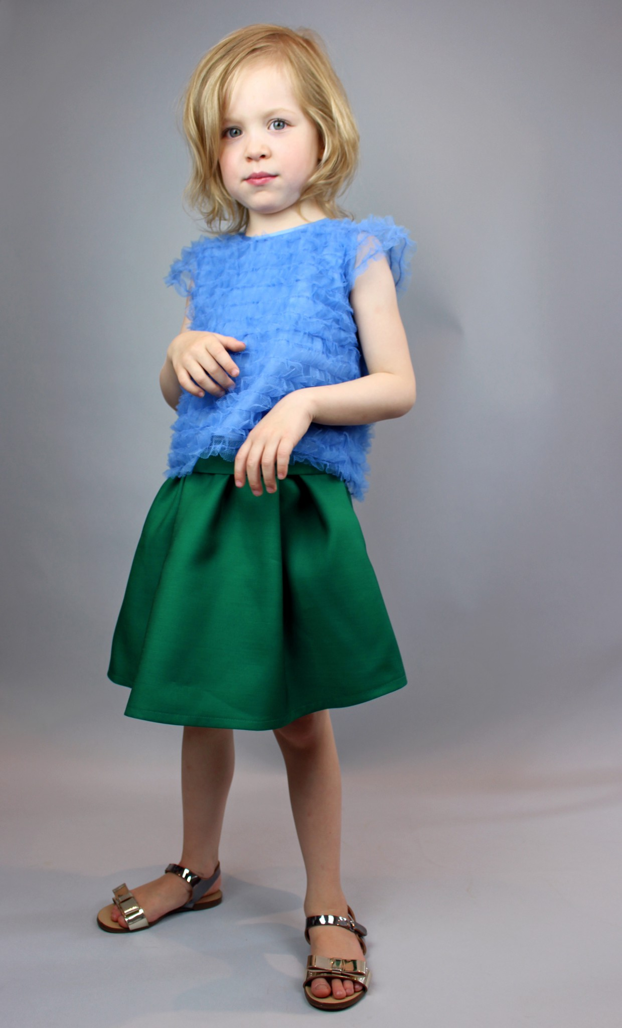 Plakinger: GIRLS SILK AND WOOL SKIRT - Hiphunters Shop