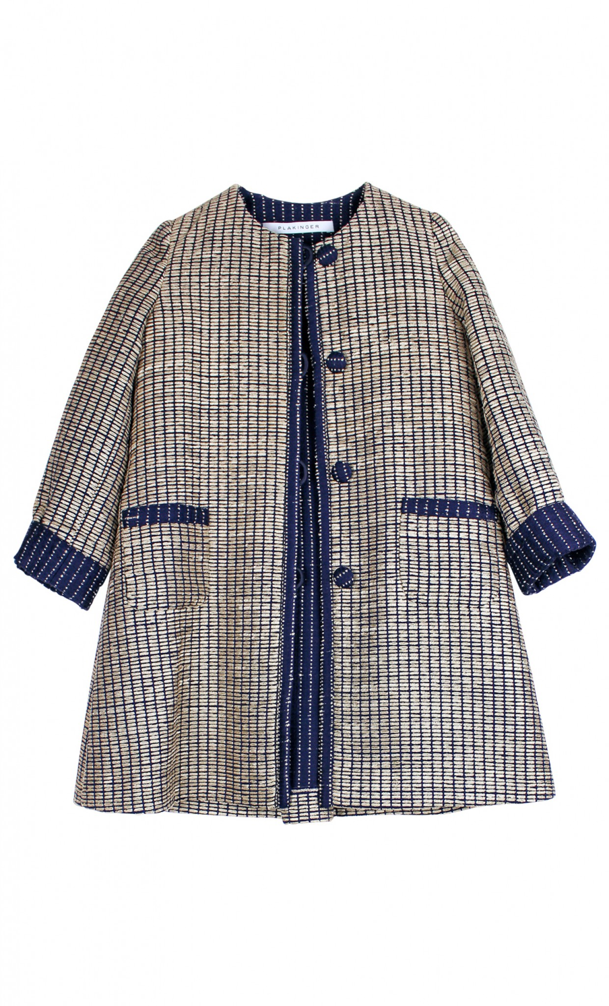 Plakinger: GIRLS GOLDEN COTTON MIX COAT - Hiphunters Shop