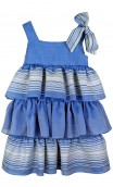 Plakinger: RUFFLED COTTON BLEND GIRLS DRESS | Clothing -  Hiphunters Shop