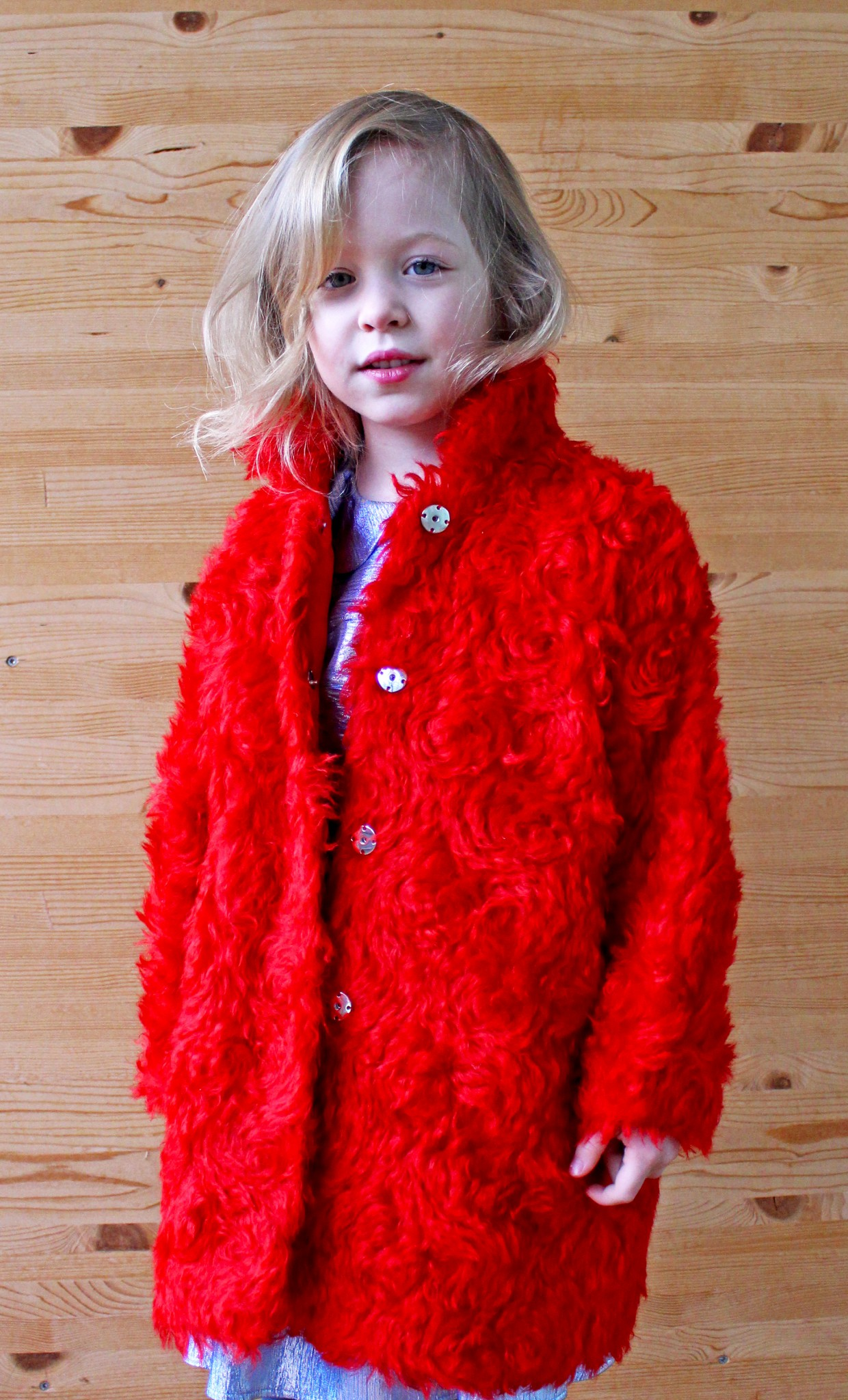Plakinger: RED GIRLS TEDDY COAT - Hiphunters Shop