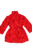 Plakinger: RED GIRLS TEDDY COAT | Clothing -  Hiphunters Shop