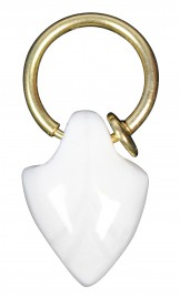 SMALL LEAF SHAPED LIMOGES PORCELAIN SEPTUM