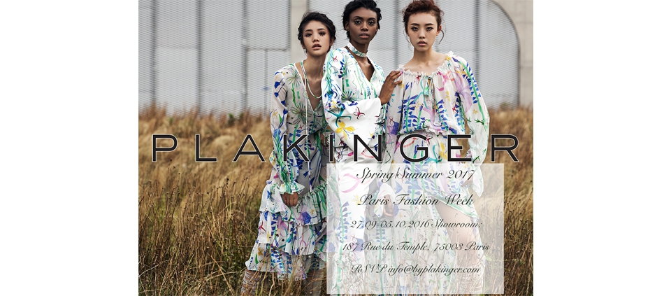 PLAKINGER SS17 PARIS FASHION WEEK SHOWROOM INVITATION