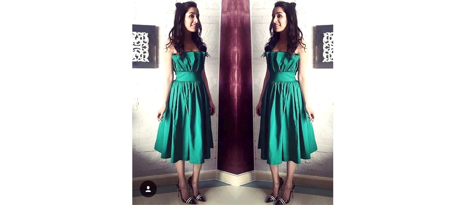 THE ACTRESS SHRADDHA KAPOOR WEARING PLAKINGER DRESS