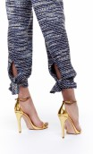 PLAITED COTTON-BLEND PANTS WITH A BOW DETAIL