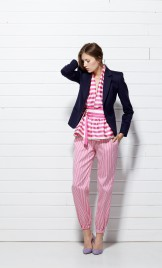 PINK STRIPED SILK BLAZER