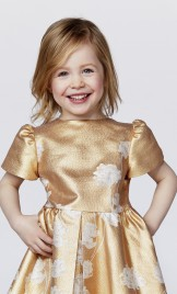 GIRLS VELVET AND EMBELLISHED SILK ORGANZA DRESS