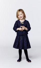 GIRLS STRIPED LAMBSWOOL COAT