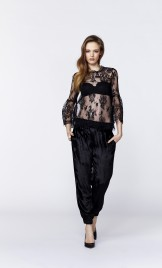 BLACK CALAIS LACE BLOUSE