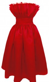 VALENTINES DAY SILK ORGANZA DRESS