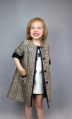 GIRLS GOLDEN COTTON MIX COAT