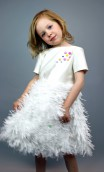 EMBELLISHED AND FRINGED GIRLS DRESS