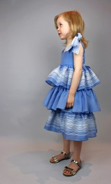 PLEATED SILK ORGANZA SKIRT