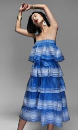 BLUE ONE-SHOULDER DRESS