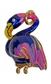 HANDPAINTED FLAMINGO SHAPED PENDANT