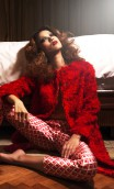 RED MOHAIR COAT