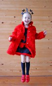 RED GIRLS TEDDY COAT