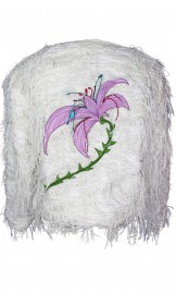 LILAC APPLIQUÈ FRINGED JACKET