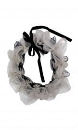 SILK TULLE CHOKER AND BRACELET ACCESSORY