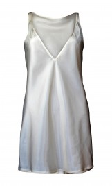 SKIN-COLORED VISCOSE SLIP DRESS