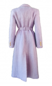 LAVENDER COLORED MOHAIR TRENCH COAT