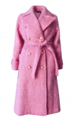 PALE PINK MOHAIR TRENCH COAT