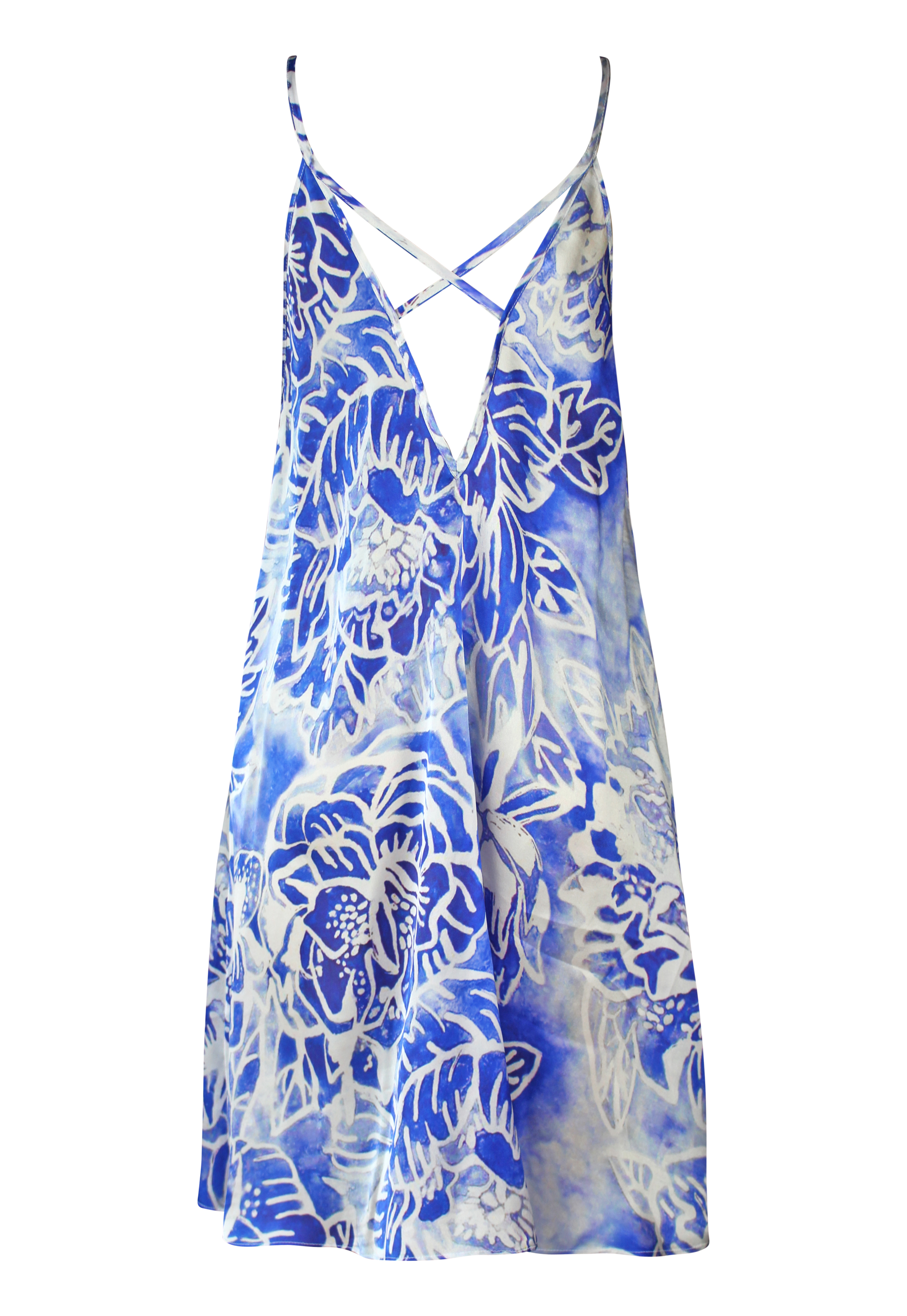 PLAKINGER FLORAL SILK SLIP DRESS
