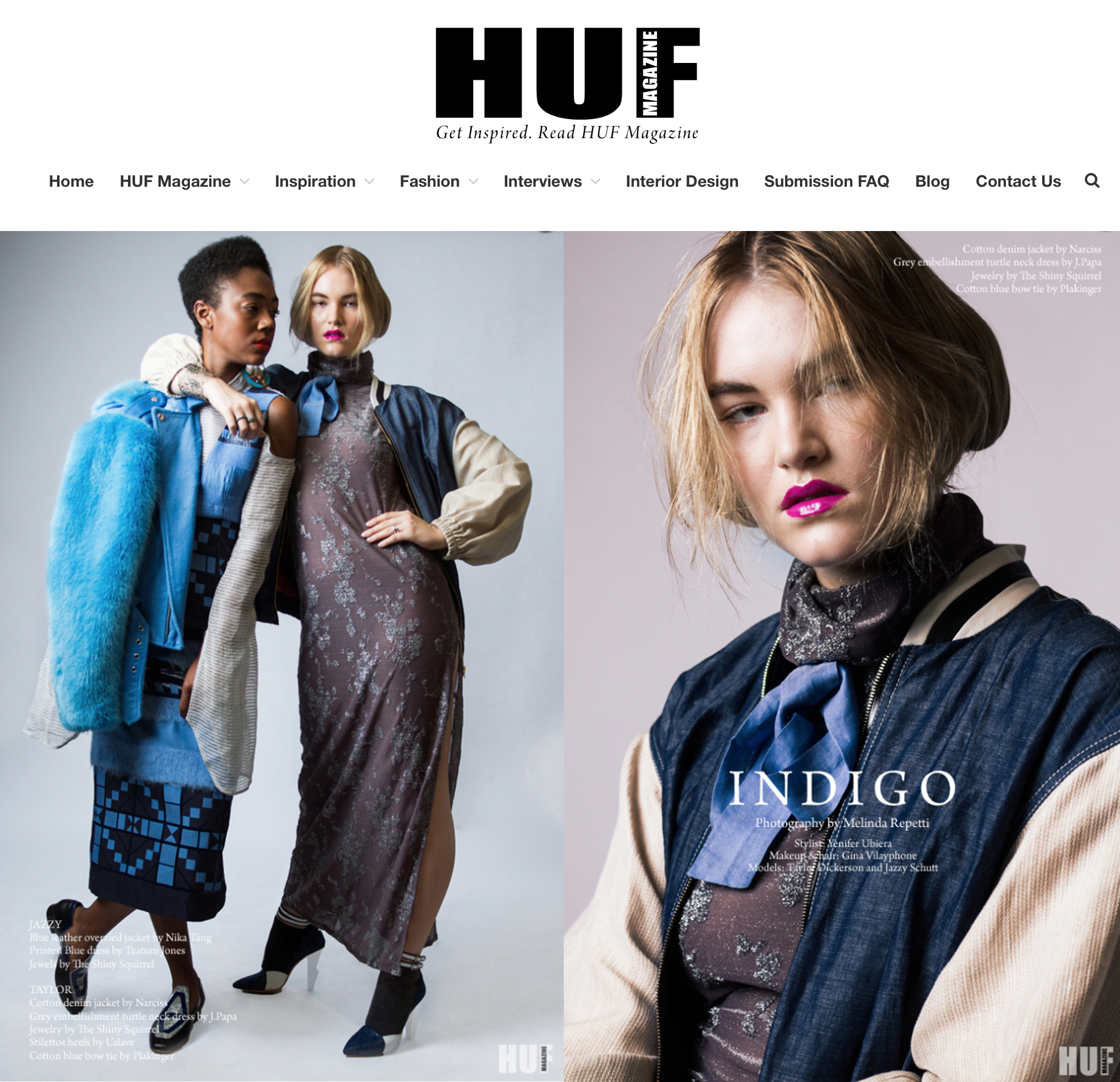 PLAKINGER Tiered Dress in HUF Magazine