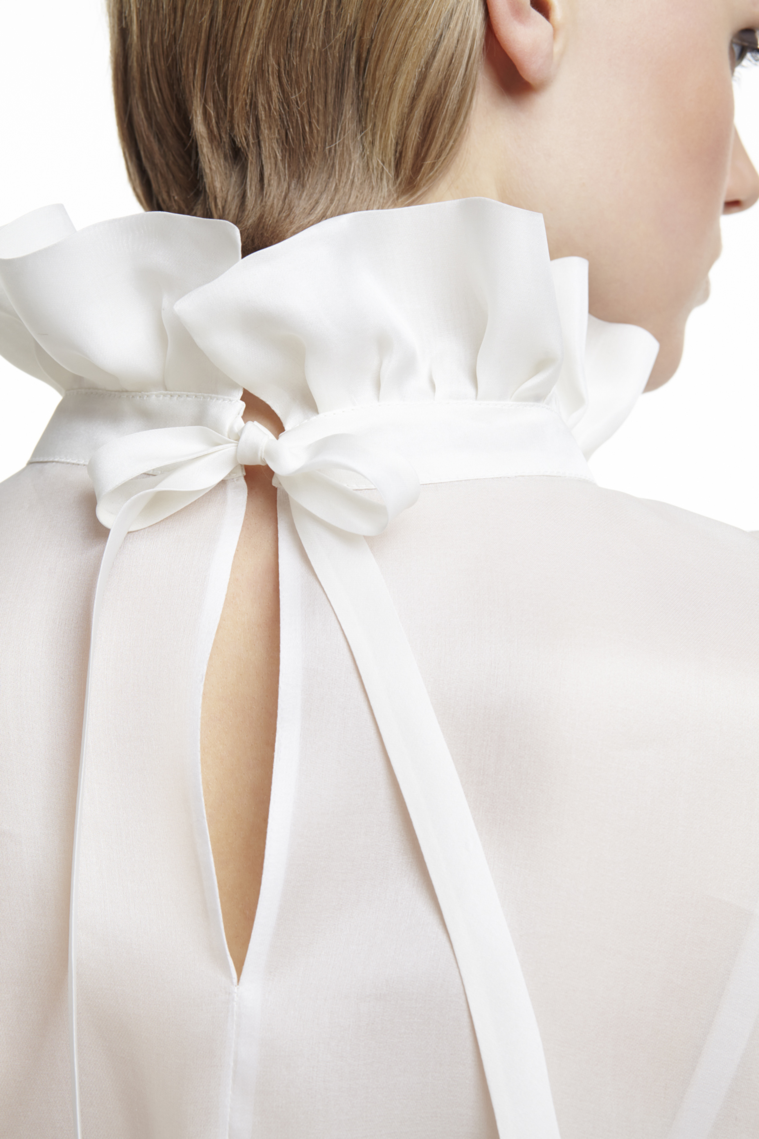 PLAKINGER SILK ORGANZA BLOUSE IN DAILY MAIL UK