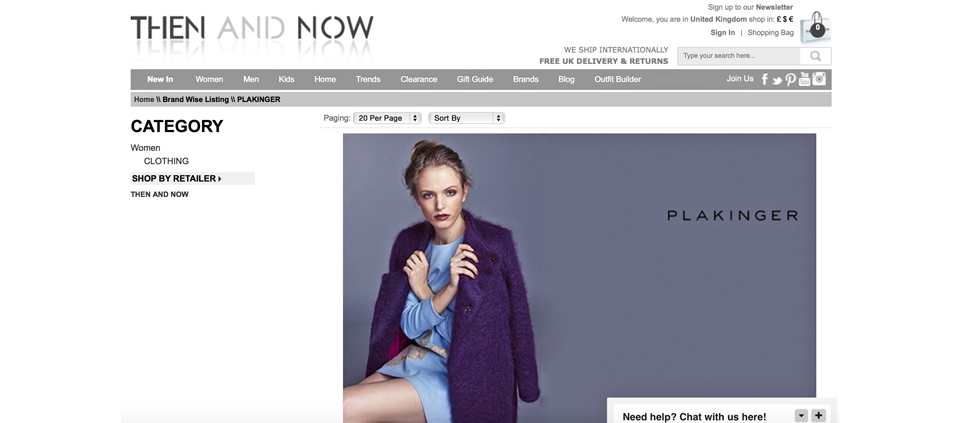 PLAKINGER AVAILABLE @ THENANDNOW LUXURY ONLINE RETAILER