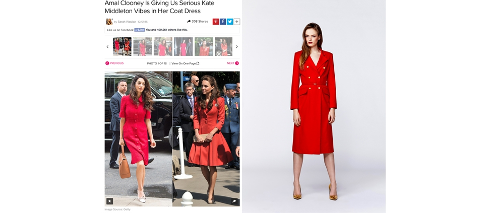 "PLAKINGER IN ""AMAL CLOONEY WEARING COAT DRESS"" ARTICLE"