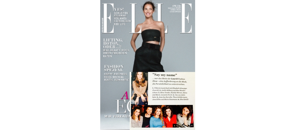 MARIE NASEMANN IN PLAKINGER AT MBFWB IN ELLE GERMANY