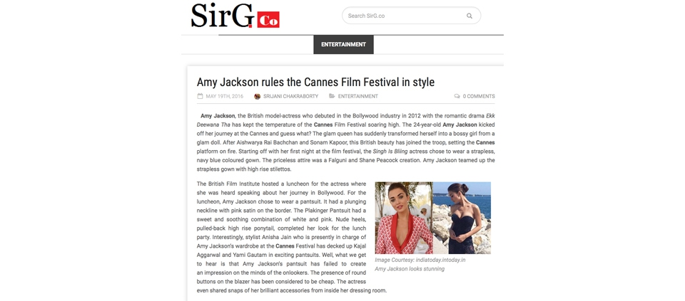 AMY JACKSON WEARING PLAKINGER IN CANNES BY SIRG.CO