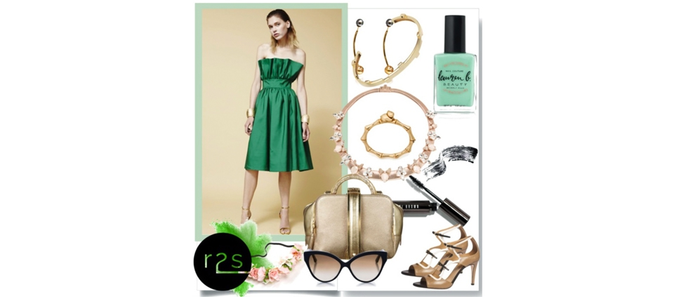 PLAKINGER SS16 GREEN DRESS AVAILABLE AT RUNWAY2STREET