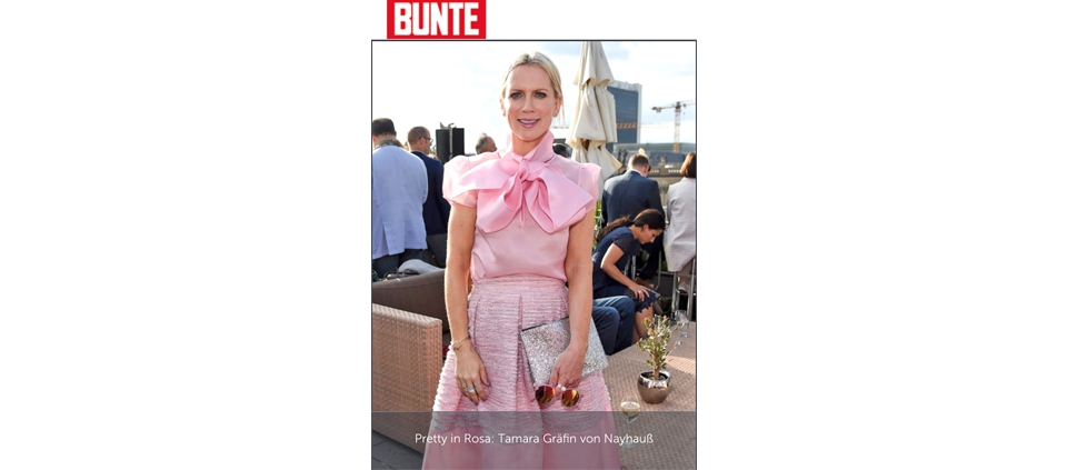 TAMARA VON NAYHAUß WEARING PLAKINGER IN BUNTE GERMANY