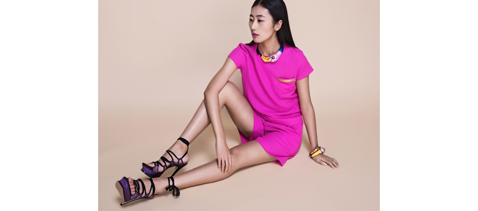PLAKINGER CHINA DOLL SPRING SUMMER 2016 CAMPAIGN PINK