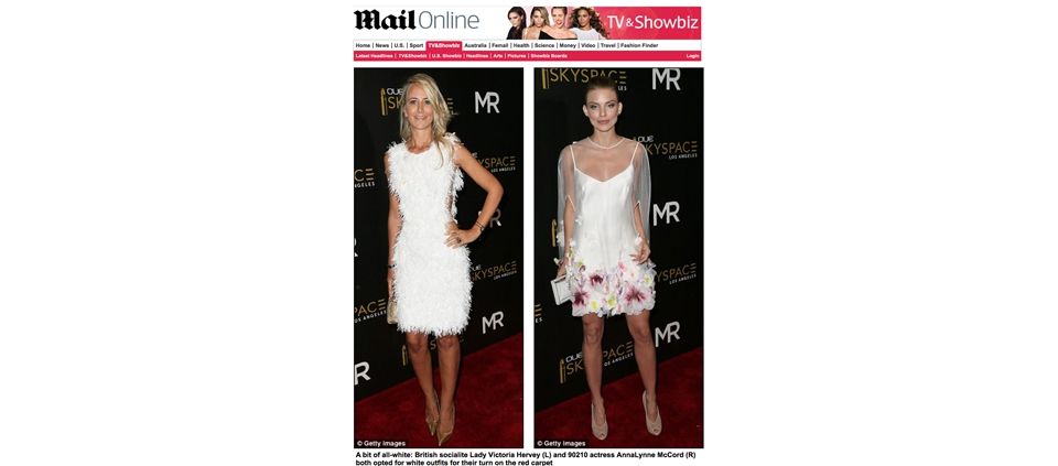 LADY VICTORIA HERVEY WEARING PLAKINGER IN DAILY MAIL UK